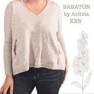 Aritzia Wool Linen blend Sweater blouse